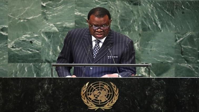 Namibia's President Hage Geingob