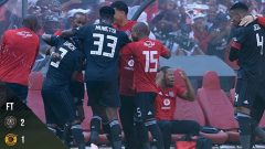 Orlando Pirates celebrating their win