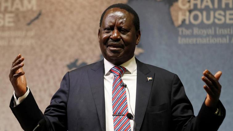 Kenya's Opposition leader Raila Odinga.