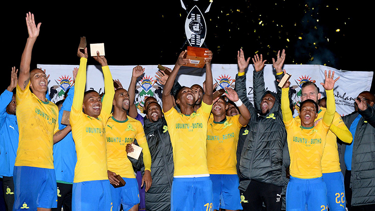 Sundowns players celebrating