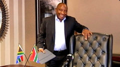 President Cyril Ramaphosa in his office