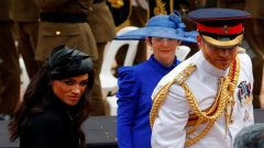 Britain's Prince Harry and Meghan,