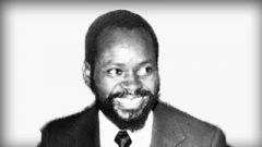 Black and white image of Samora Machel