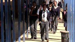 Learners in school uniform