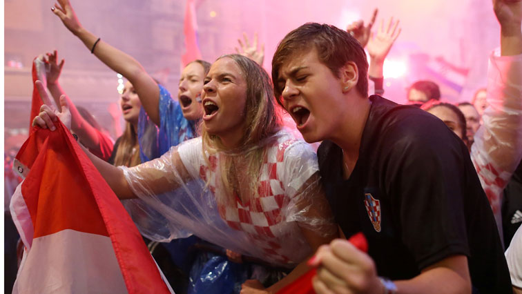 Croatia fans celebrating