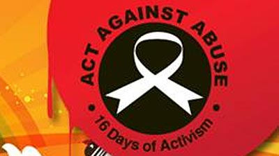 16 Days of Activism white ribbon
