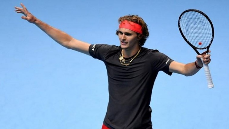 Germany's Alexander Zverev celebrates