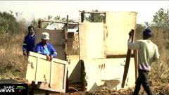 Demolished shacks