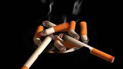 lit cigarette
