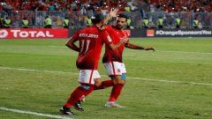 Al Ahly teammates on the field