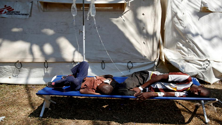 Two male patients treated for cholera.