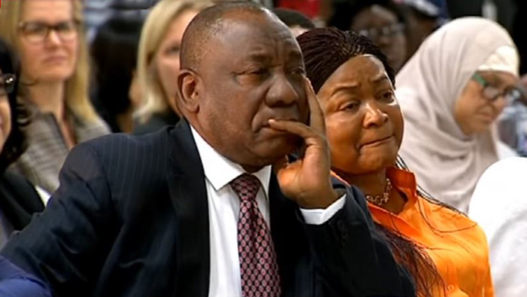 National Assembly Speaker, Baleka Mbete with President Cyril Ramaphosa