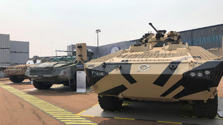 SA military vehicles on display.