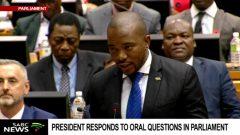 Mmusi Maimane in Parliament