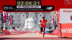 Britain's Mo Farah running