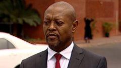 Mthunzi Luthuli speaking to SABC