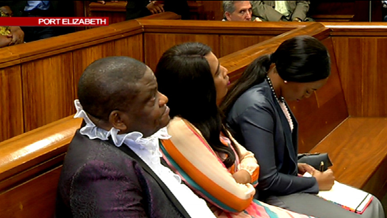 Pastor Timothy Omotoso and co-accused, Lusanda Sulani and Zukiswa Sitho sitting in court