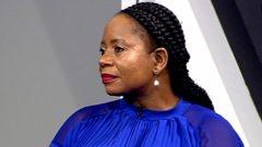 Patricia Kopane speaking on Morning Live