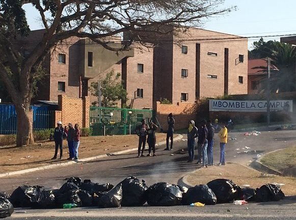 Mpumalanga University, Workers, exams, disruption.