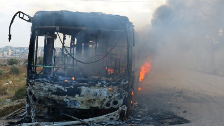 Image result for burning bus africa