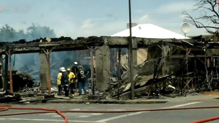 Fire destroy Cubana.