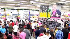Store packed with shoppers