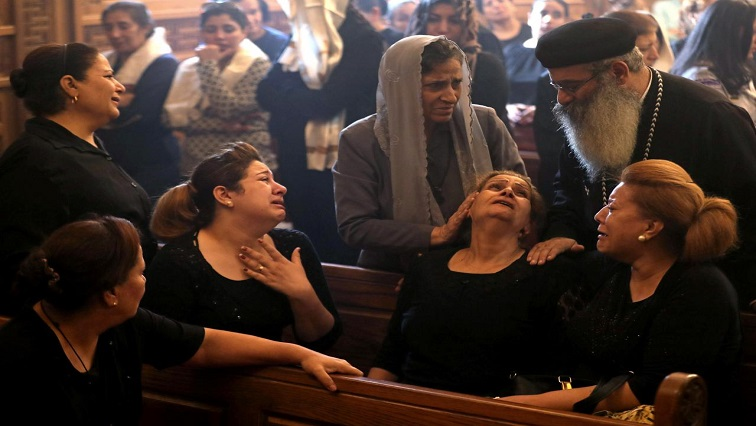 Mourners gathered at Prince Tadros Church