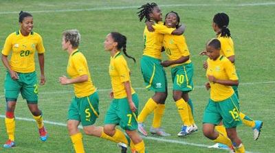 Banyana Banyana celebrate goal