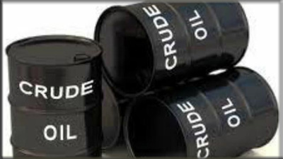 Black barrels of crude oil