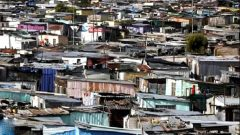 Shacks in an informal settlement.