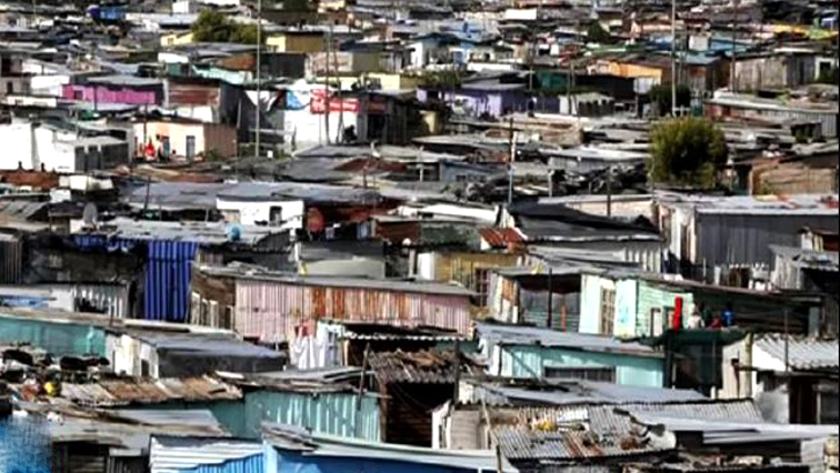 Shacks in an informal settlement.