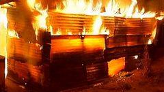 Burning shack
