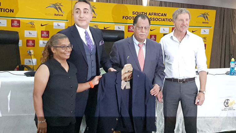 Danny Jordaan with Banyana and Bafana coaches