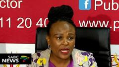 Busisiwe Mhwebane addressing media