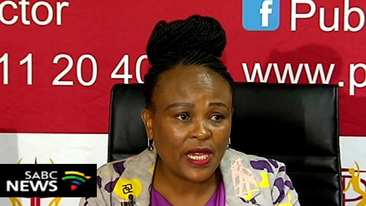 Busisiwe Mhwebane addressing media