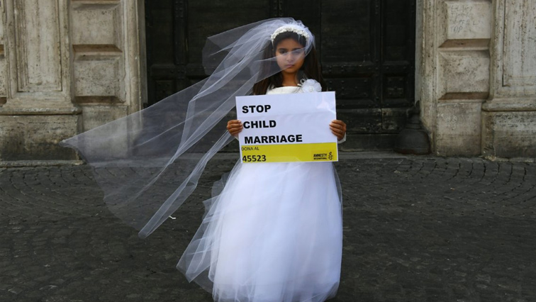 Child protests against child marriages