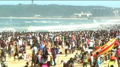 Holiday makers and revellers