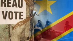 DR Congo flag with vote