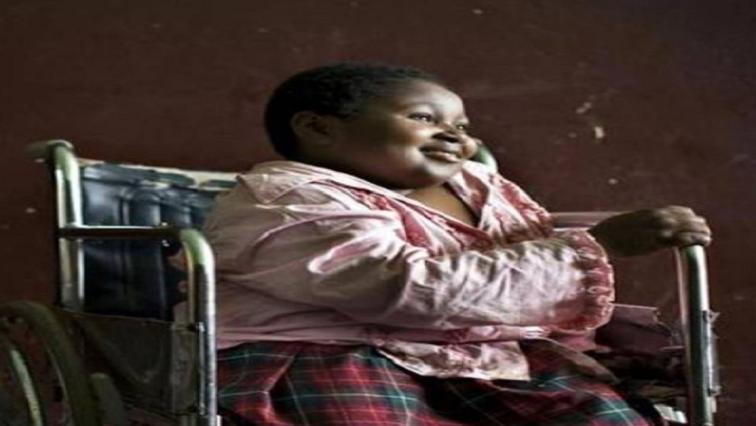 Girl on a wheelchair