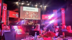 An image of the Vodacom awards where the EFF pictures were shown