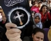 Egyptian Christians protest at police killing