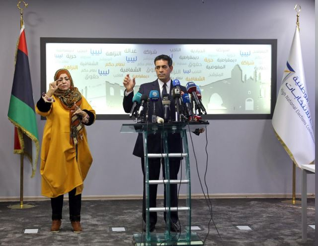 Emad Al-Sayah, Chairman of Libya's High National Election Commission (HNEC), speaks during a news conference in Tripoli, Libya December 6, 2018