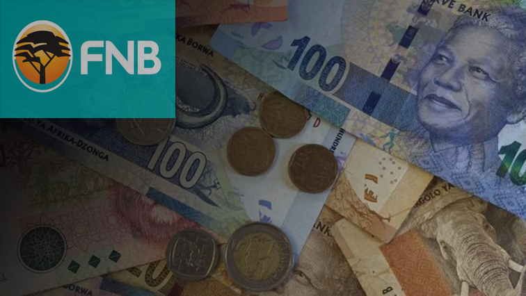 FNB logo and notes and coins
