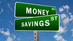 Monet and Savings signs