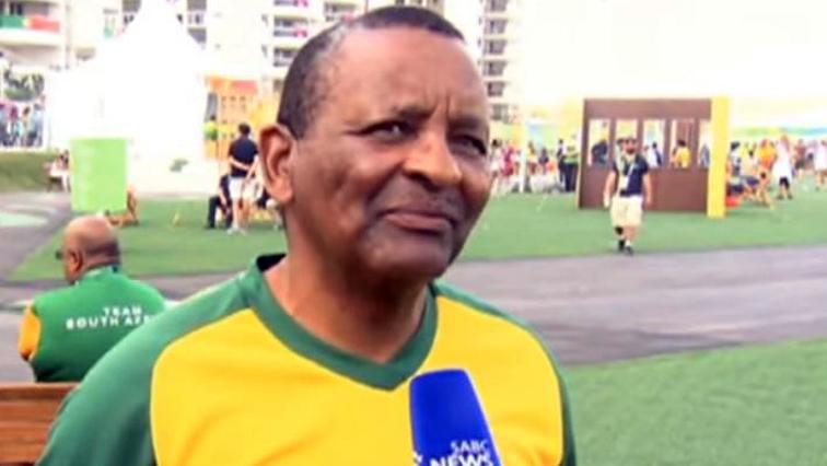 Gideon Sam speaking to SABC