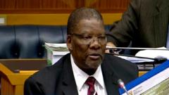 Water and Sanitation Minister, Gugile Nkwinti.