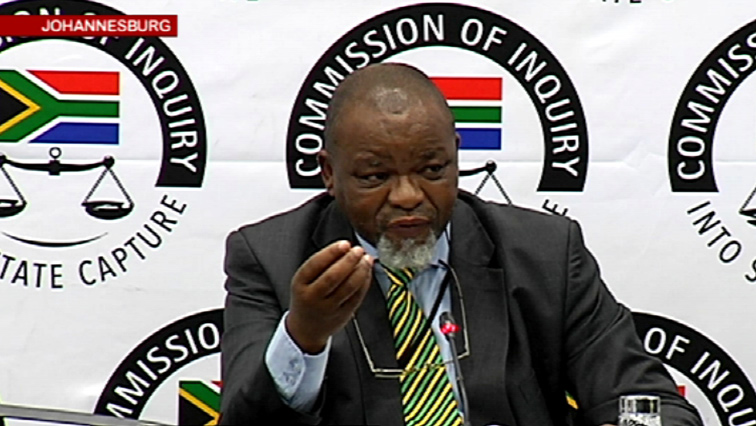 Gwede Mantashe testifying at the Commission of Inquiry into State Capture.