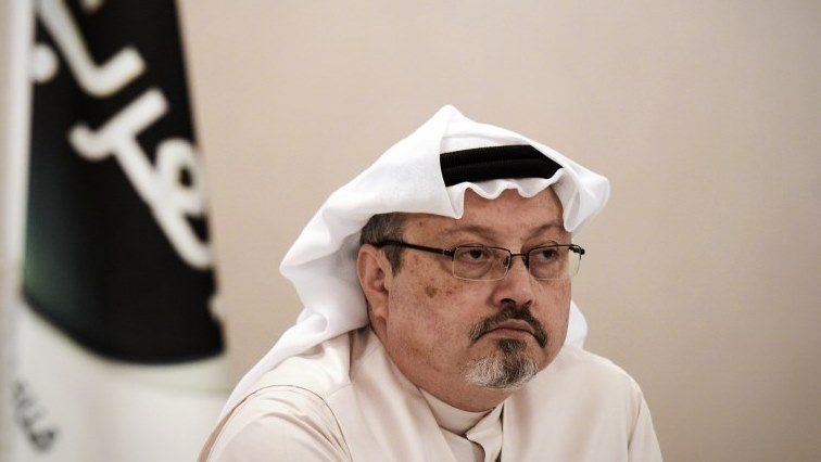 Khashoggi at a press conference