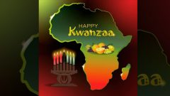 Candles and African map images