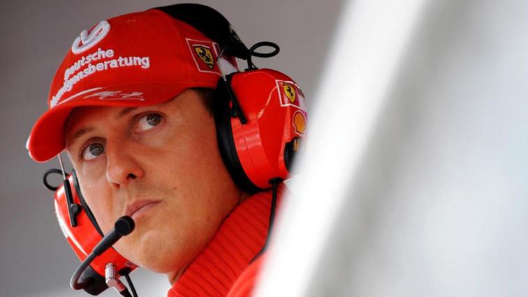 Michael Schumacher wearing Ferrari uniform